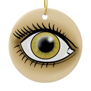 Hazel Eyes icon Ceramic Ornament