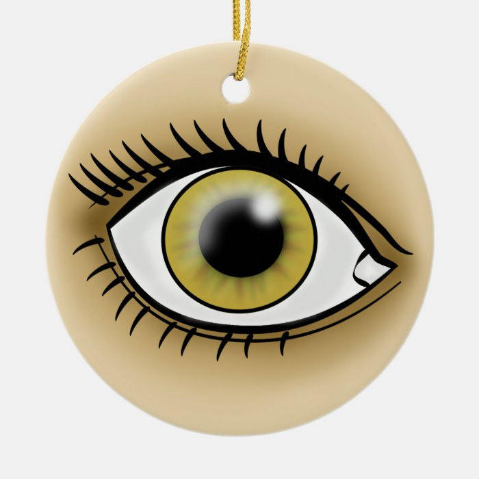 Hazel Eyes icon Ceramic Ornament