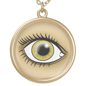 Hazel Eyes icon Gold Plated Necklace