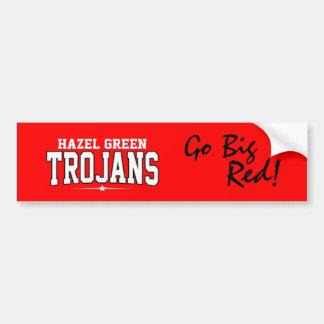 Hazel Green High School; Trojans Car Bumper Sticker