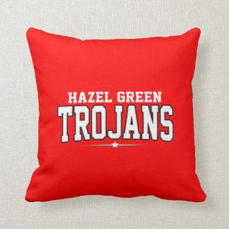 Hazel Green High School; Trojans Throw Pillow