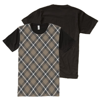 Hazel Wood, Pitch and Pearl Horizontal Plaid All-Over Print Shirt