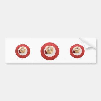 Hazelnut Cake with Raspberries Bumper Sticker Car Bumper Sticker