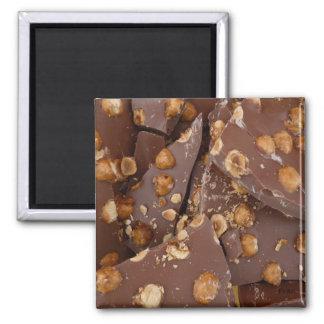 hazelnut chocolate 2 inch square magnet