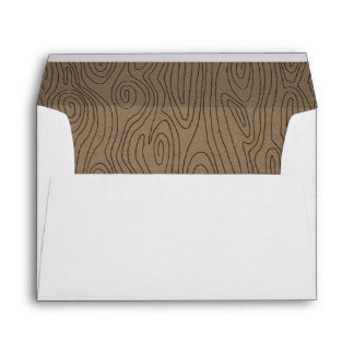 Hazelnut Faux Bois Liner Envelope