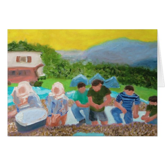 Hazelnut Harvest in Turkey Card
