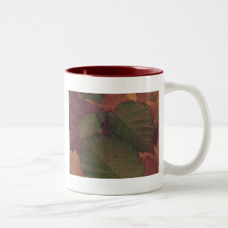 Hazelnut Leaf Two-Tone Coffee Mug