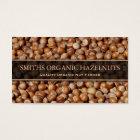 Hazelnut Producer / Farmer Photo Business Card