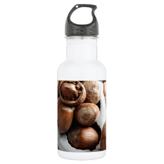 Hazelnuts and tool stainless steel water bottle