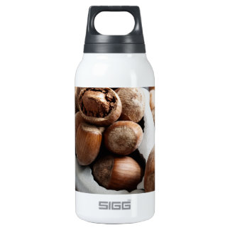 Hazelnuts and tool thermos water bottle