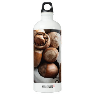 Hazelnuts and tool water bottle