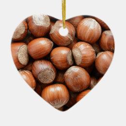Hazelnuts Ceramic Ornament