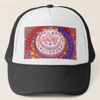 Hazel's Birthday Cake Trucker Hat