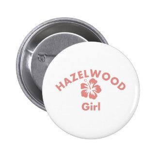Hazelwood Pink Girl Pinback Button