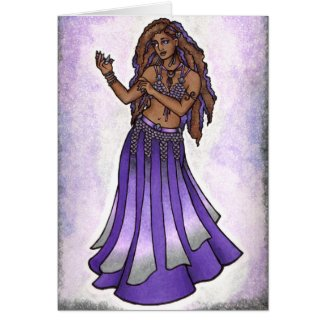 Hazine Belly Dancer Card