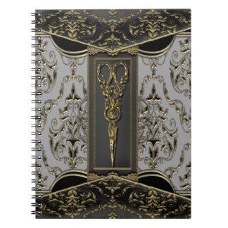 Hazlehurst escarpado Antiqued Scissors elegante Cuaderno