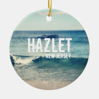 Hazlet- 2013 - Recuperación en la orilla del Adorno Redondo De Cerámica