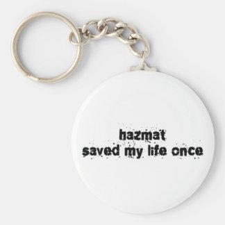Hazmat ahorró mi vida una vez llavero personalizado