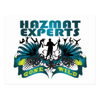 Hazmat Experts Gone Wild Postcard