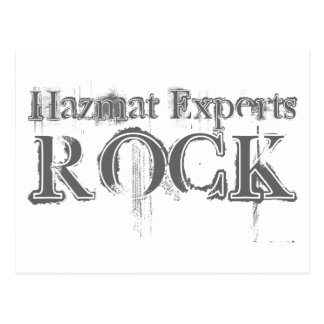 Hazmat Experts Rock Postcard