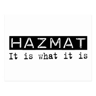 Hazmat It Is Postcard