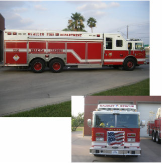 HazMat Rescue Fire Truck Statuette
