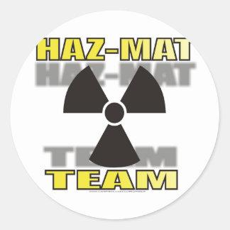HAZMAT TEAM CLASSIC ROUND STICKER