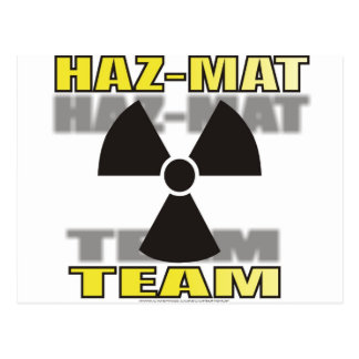 HAZMAT TEAM POSTCARD