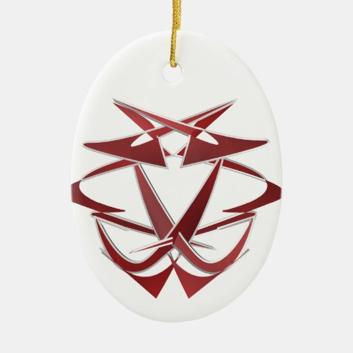HAZOURDOUS.png Double-Sided Oval Ceramic Christmas Ornament