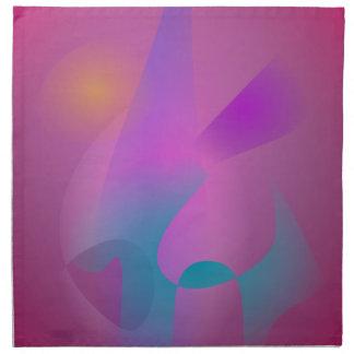 Hazy Abstract Pink Purple Cloth Napkin