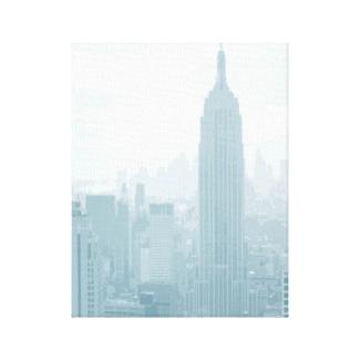 Hazy Blue New York City Skyline
