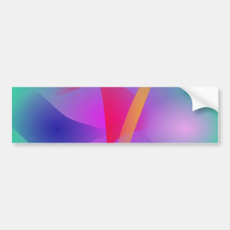 Hazy Green Colorful Abstract Art Bumper Stickers