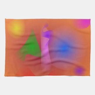 Hazy Harmony of Contrasting Colors Towel