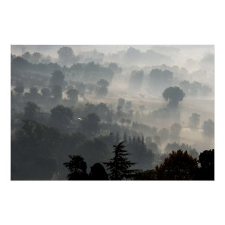 Hazy Morning In Perugia, Italy Poster