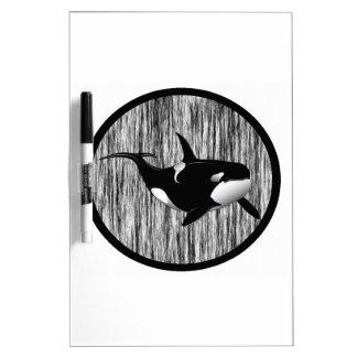 HAZY MORNING ORCA DRY ERASE WHITEBOARD