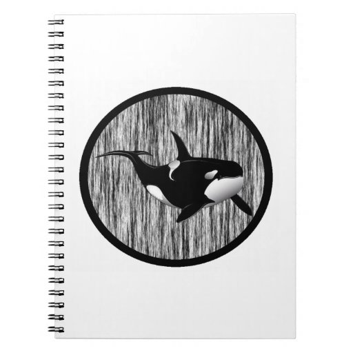 HAZY MORNING ORCA SPIRAL NOTE BOOKS