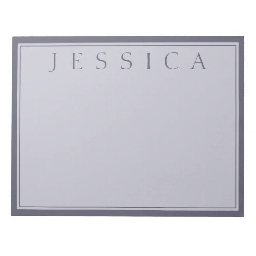 Hazy Purple  Lavender Gray  Your Name Notepad