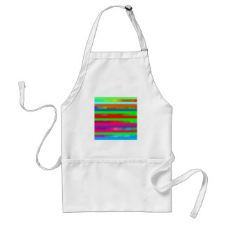 Hazy rainbow stripes adult apron
