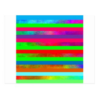 Hazy rainbow stripes postcard