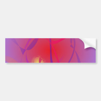 Hazy Red and a Yellow Planet Bumper Stickers