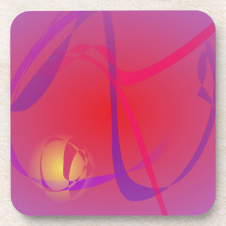 Hazy Red and a Yellow Planet Drink Coasters