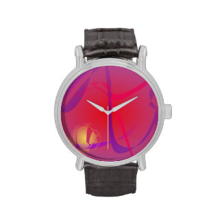 Hazy Red and a Yellow Planet Wristwatches