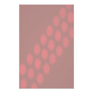 Hazy Red Dot Pattern Faded Stationery