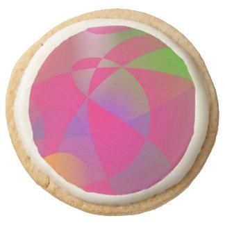 Hazy Space Pink Round Premium Shortbread Cookie