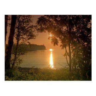 Hazy Sunrise at Split Rock Postcard
