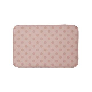 Hazy taupe Rose gold polka dots bathroom rug. Rose Gold Bath Mats   Zazzle