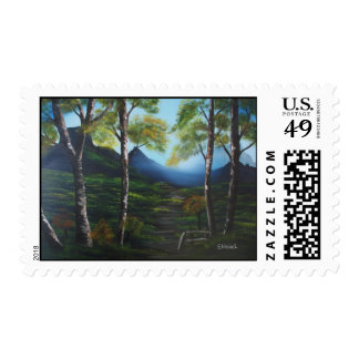 Hazy Walk Postage Stamp
