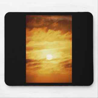 Hazy Yellow Sky Mouse Pads