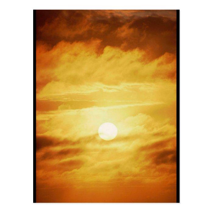 Hazy Yellow Sky Postcard