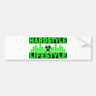 Hazzard de la forma de vida de Hardstyle y diseño  Etiqueta De Parachoque